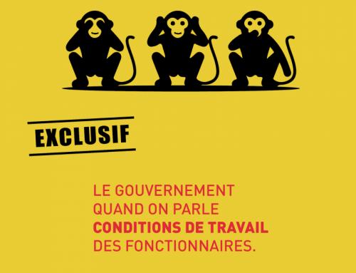 CONDITIONS DE TRAVAIL : Lutter contre l'inertie gouvernementale.