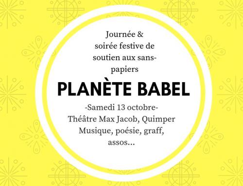 Planète Babel : après-midi débats et soirée festive en soutien aux sans-papiers