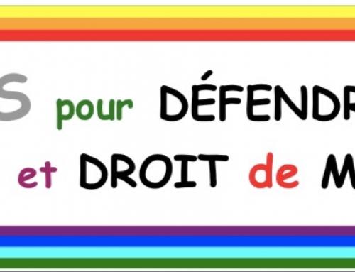 Tous unis pour défendre nos droits publics et notre droit de manifester!
