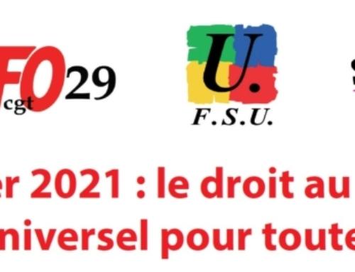 Manifestations et grève le 4 février 2021