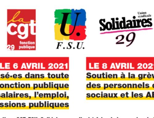 Mobilisation Fonction Publique mardi 6 avril