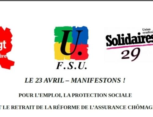 Pour l'emploi, la protection sociale et le retrait de la réforme de l'assurance chômage