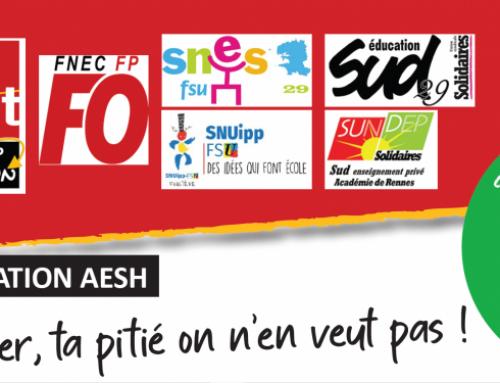 Mobilisation AESH: en grève le 19 octobre!